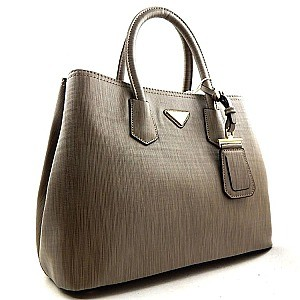Textured Saffiano Dual Compartment Classic Tote