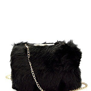 HD2986-LP Faux-Fur Metal Frame Hard Clutch