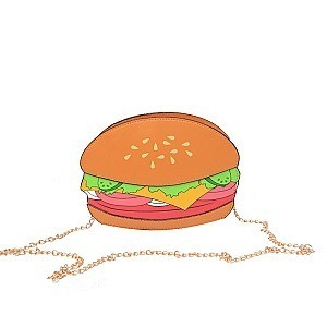 Hamburger Shaped Novelty Shoulder Crossbody Bag