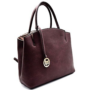 B0149-LP Simple and Classy 3 Compartment Semi-dome Satchel