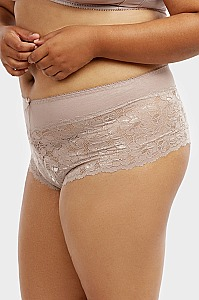 PACK OF 12 PIECES COMFY COTTON LACE PLUS SIZE HIPSTER PANTY MULP1337CHX6