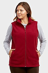 PACK OF 3 PIECES LADIES POLAR FLEECE VEST PLUS SIZE MULPF100XE